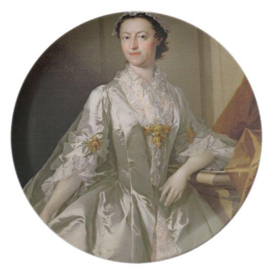 Mrs Wardle, 1742 (oil on canvas) Dinner Plate