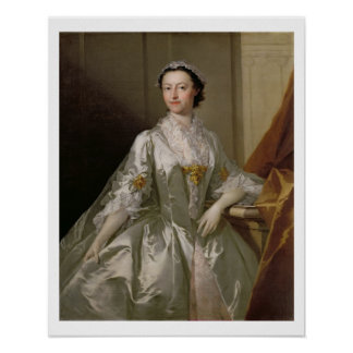 Mrs Wardle, 1742 (oil on canvas) Posters