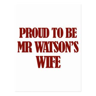 Mrs watson designs postcard
