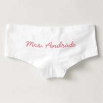 Mrs Wedding Knickers Custom Wedding Day Panties