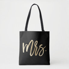Mrs. Wedding Tote Bag