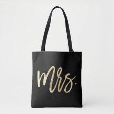 Mrs. Wedding Tote Bag at Zazzle
