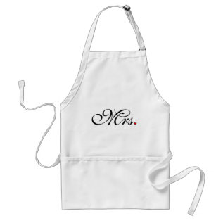 Mrs. Wife Bride His Her Newly Weds Adult Apron at Zazzle
