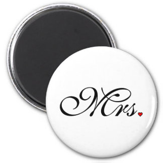 Mrs. Wife Bride His Her Newly Weds Magnet