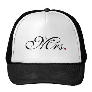 Mrs. Wife Bride His Her Newly Weds Trucker Hat