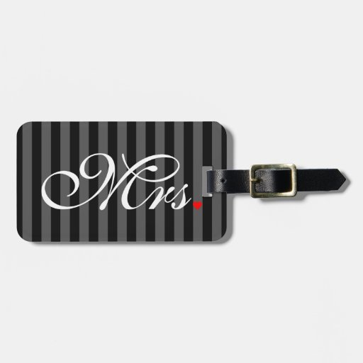 Zazzle Mrs. Wife Bride His Hers Newly Weds Bag Tag