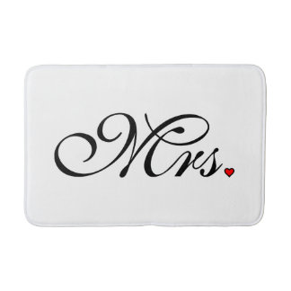 Mrs. Wife Bride His Hers Newly Weds Bath Mat
