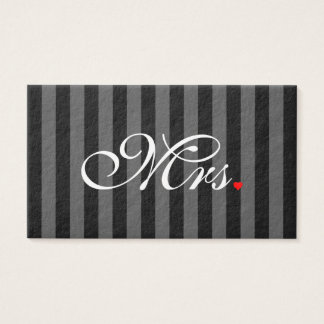 Mrs. Wife Bride His Hers Newly Weds Business Card