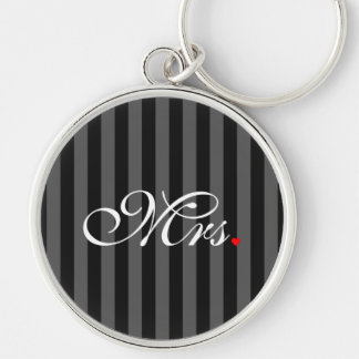Mrs. Wife Bride His Hers Newly Weds Keychain