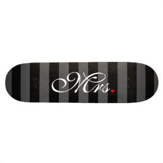 Mrs. Wife Bride His Hers Newly Weds Skateboard Deck