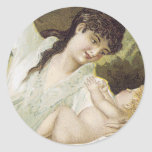 Mrs. Winslow's Soothing Syrup, For Children Classic Round Sticker