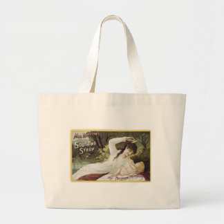 Mrs Winslows Soothing Syrup For Teething Babies Large Tote Bag