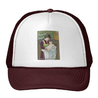 Mrs. Winslow's Soothing Syrup Trade Card Trucker Hat