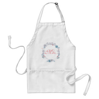 Mrs. with Boho Chic Floral Adult Apron