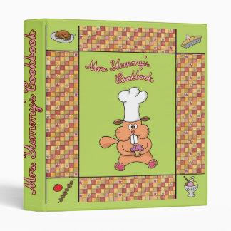 Mrs. Yummy's cookbook avery binder