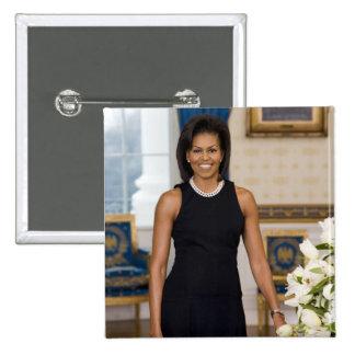 MrsObamaPortrait Pinback Button
