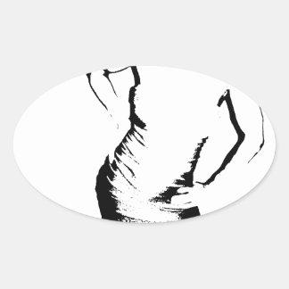 Mrstee Oval Sticker