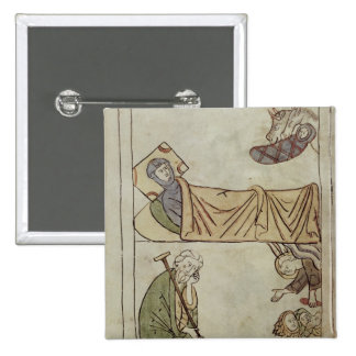 Ms 108 fol.168 The Nativity, from a Bible Pinback Button