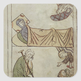 Ms 108 fol.168 The Nativity, from a Bible Square Sticker