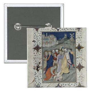 Ms 11060-11061 horas de la cruz: Matin y Laude Pin Cuadrada 5 Cm