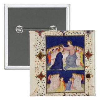 Ms 11060-11061 horas de Notre Dame: Compline, Pin Cuadrada 5 Cm