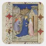 Ms 11060-11061 horas de Notre Dame: Laudes, el VI Pegatina Cuadrada