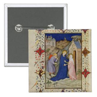 Ms 11060-11061 horas de Notre Dame: Laudes, el VI Pin Cuadrada 5 Cm