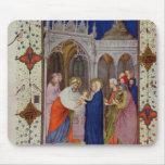Ms 11060-11061 horas de Notre Dame: Ningunos, el P Alfombrillas De Ratón