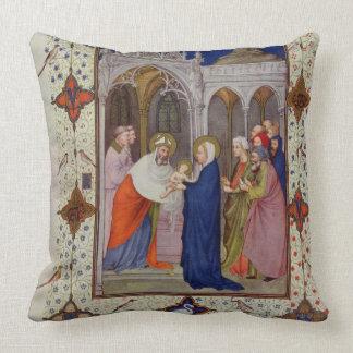 Ms 11060-11061 horas de Notre Dame: Ningunos, el P Almohada