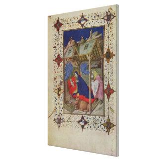 Ms 11060-11061 horas de Notre Dame: Prima, el Bir Impresión En Lienzo