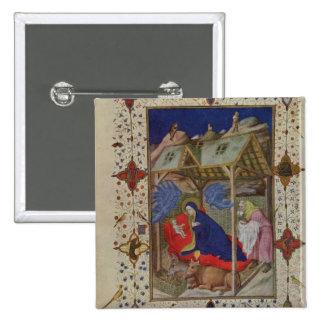 Ms 11060-11061 horas de Notre Dame: Prima, el Bir Pin Cuadrada 5 Cm