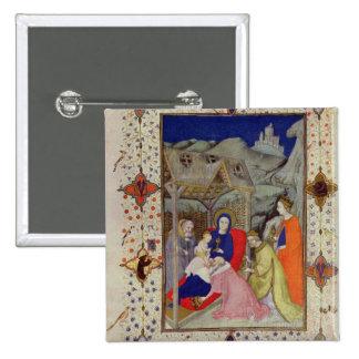 Ms 11060-11061 horas de Notre Dame: Sexte, Adorati Pin Cuadrada 5 Cm