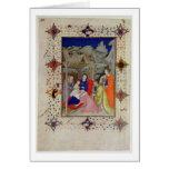 Ms 11060-11061 horas de Notre Dame: Sexte, Adorati Tarjetón