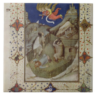 Ms 11060-11061 horas de Notre Dame: Tercerola, Azulejo Cuadrado Grande