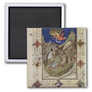 Ms 11060-11061 horas de Notre Dame: Tercerola, Imán Cuadrado