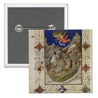 Ms 11060-11061 horas de Notre Dame: Tercerola, Pin Cuadrada 5 Cm