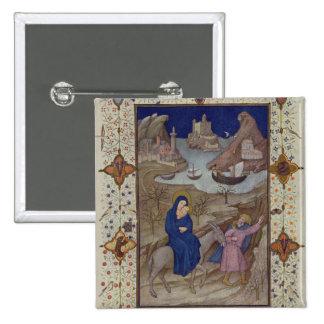 Ms 11060-11061 horas de Notre Dame: Vespers, la F Pin Cuadrada 5 Cm