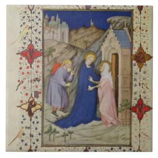 MS 11060-11061 Hours of Notre Dame: Laudes, The Vi Large Square Tile