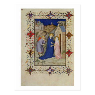 MS 11060-11061 Hours of Notre Dame: Laudes, The Vi Postcard