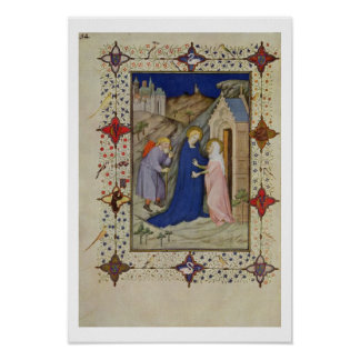 MS 11060-11061 Hours of Notre Dame: Laudes, The Vi Poster