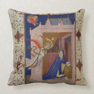 MS 11060-11061 Hours of Notre Dame: Matins, The An Throw Pillow