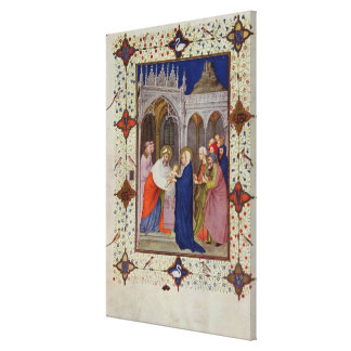 MS 11060-11061 Hours of Notre Dame: None, The Pres Canvas Print