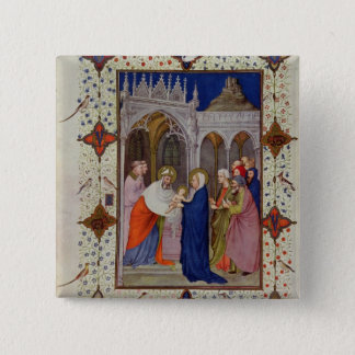 MS 11060-11061 Hours of Notre Dame: None, The Pres Pinback Button
