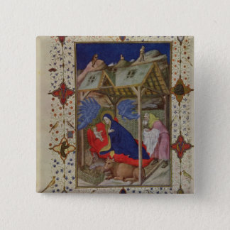 MS 11060-11061 Hours of Notre Dame: Prime, The Bir Pinback Button