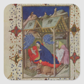 MS 11060-11061 Hours of Notre Dame: Prime, The Bir Square Sticker