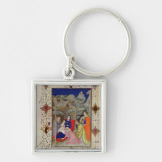 MS 11060-11061 Hours of Notre Dame: Sexte, Adorati Keychain