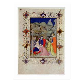 MS 11060-11061 Hours of Notre Dame: Sexte, Adorati Postcard