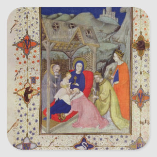 MS 11060-11061 Hours of Notre Dame: Sexte, Adorati Square Sticker