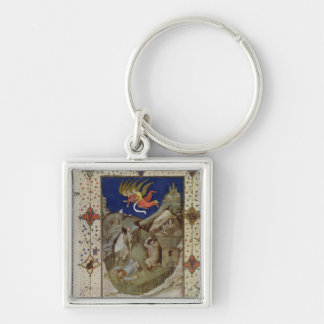 MS 11060-11061 Hours of Notre Dame: Tierce, The an Keychain