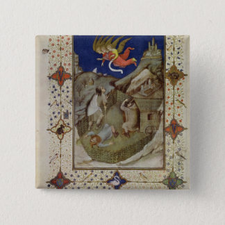 MS 11060-11061 Hours of Notre Dame: Tierce, The an Pinback Button